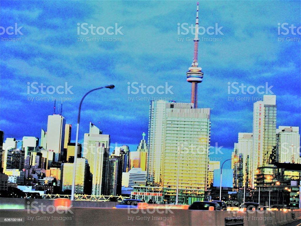 Toronto QEW stock photo