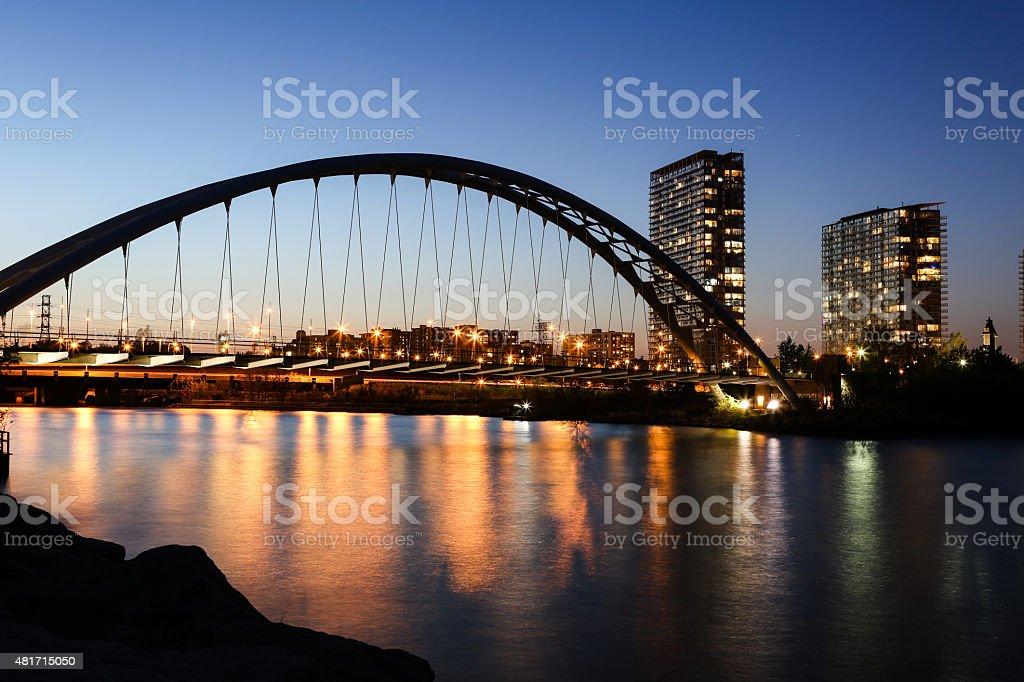 Toronto Shore Park Trail Bridge - Stock Image stock photo