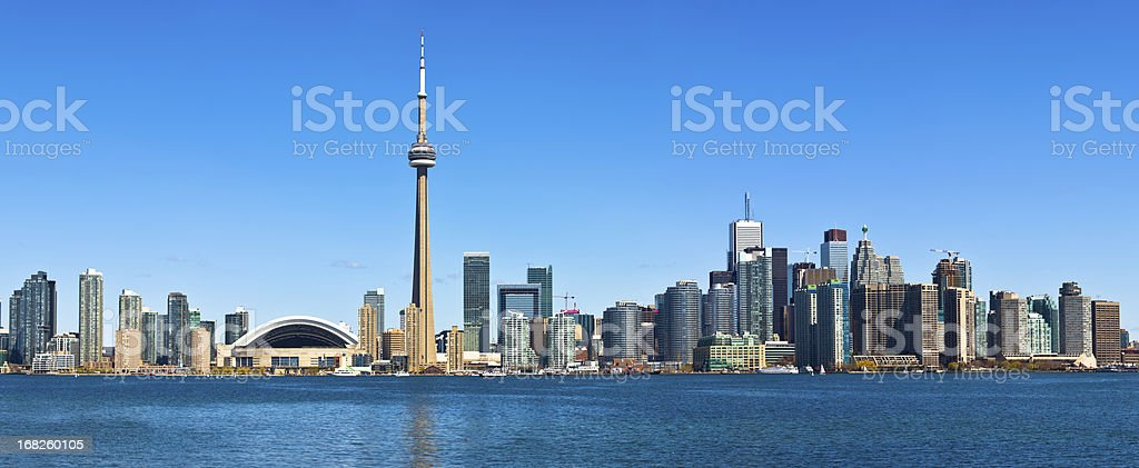 Toronto skyline by day stock photo