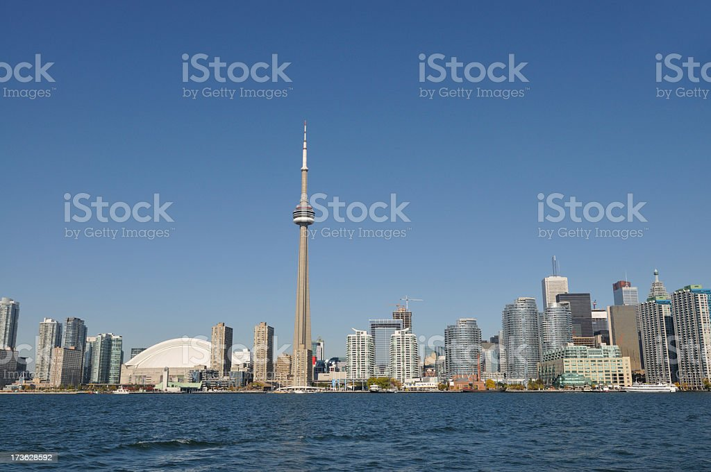 Toronto skyline from waterfront stock photo