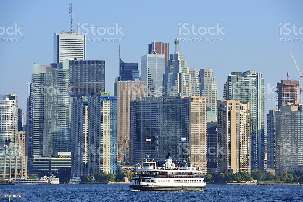Toronto skyline in the day royalty-free stock photo