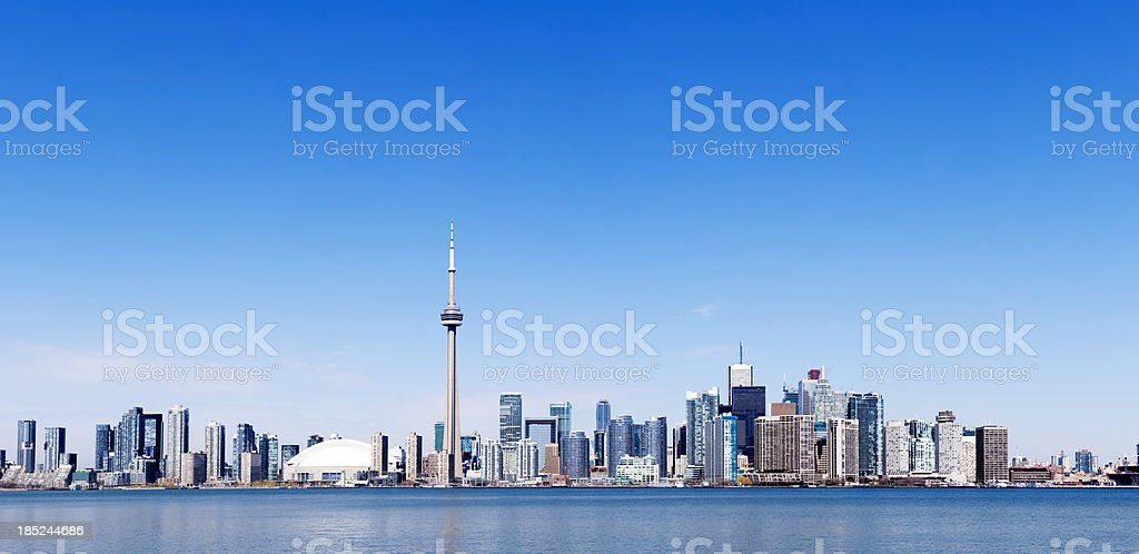 Toronto skyline in the distance in a clear day royalty-free stock photo