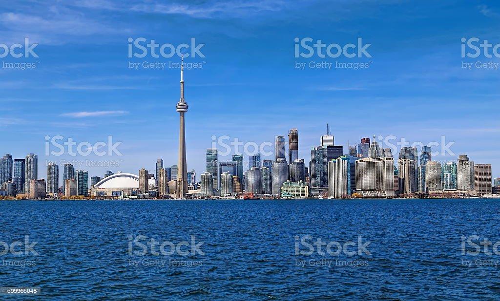 Toronto skyline. Ontario lake Harbor. stock photo