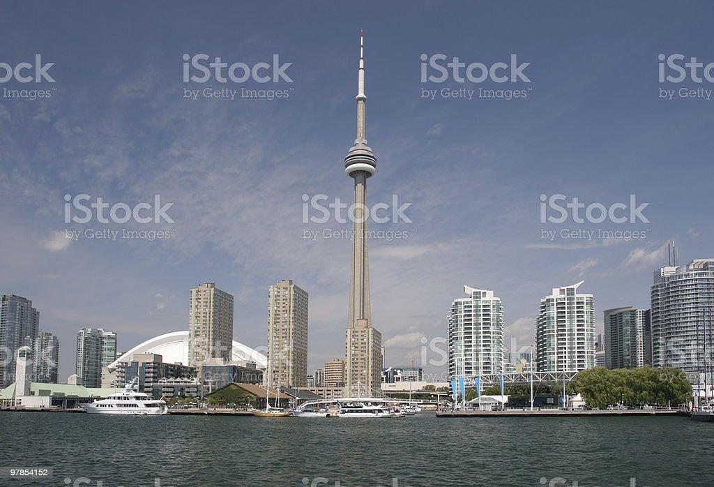 Toronto skyline, Ontario Lake stock photo
