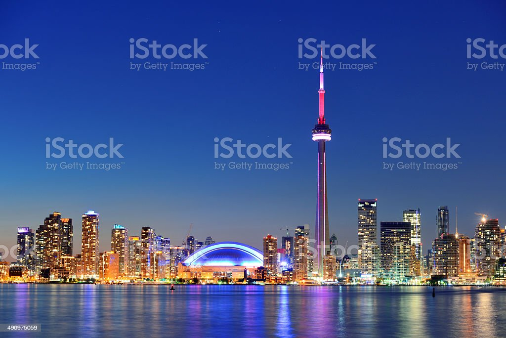 Toronto skyline stock photo