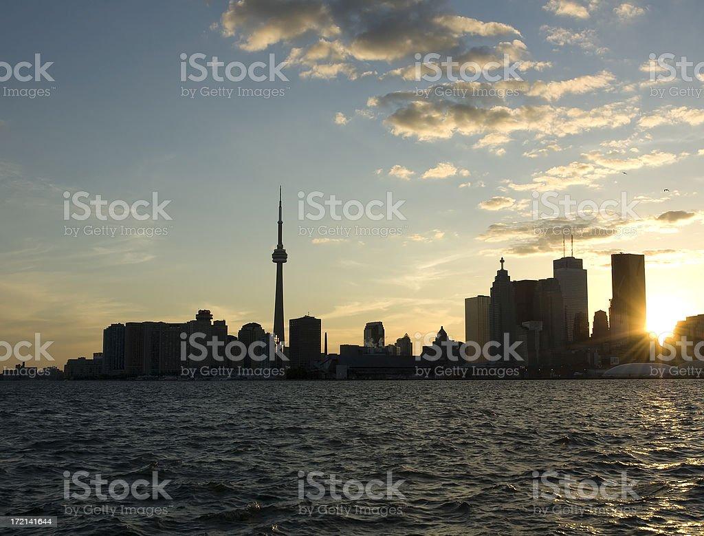 Toronto Skyline Silhouette royalty-free stock photo