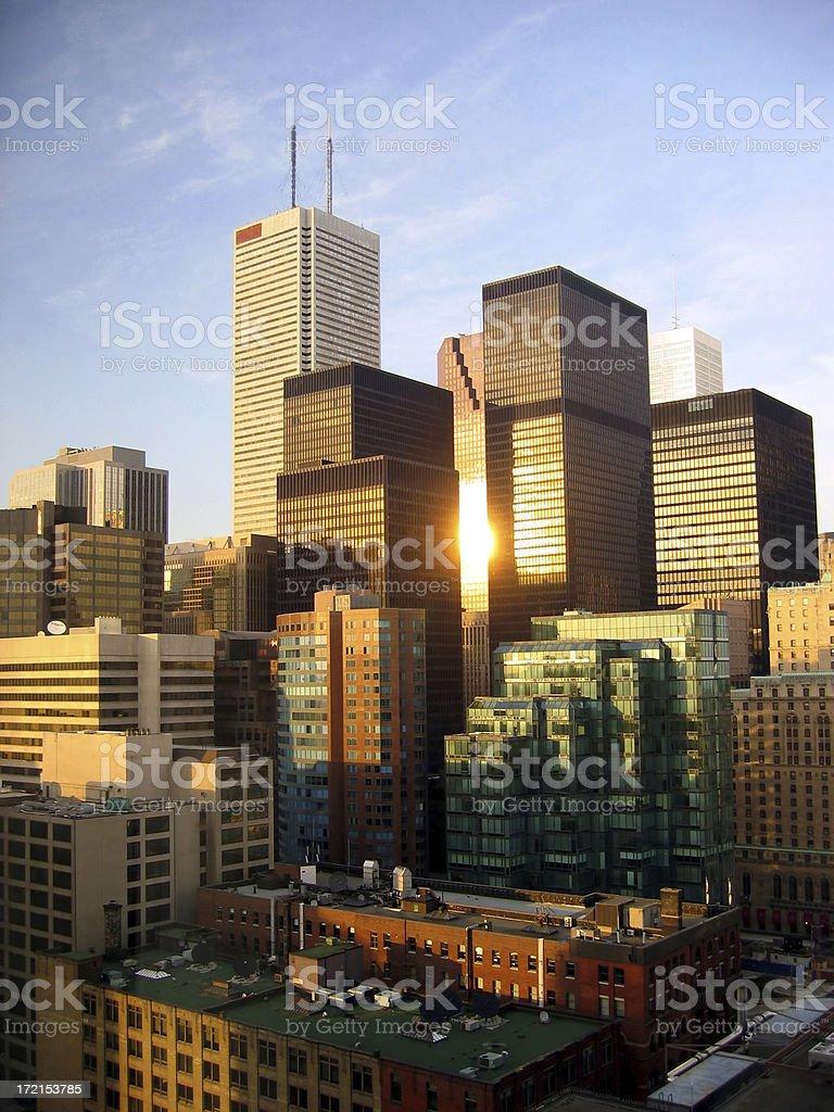 Toronto skyscrapers royalty-free stock photo
