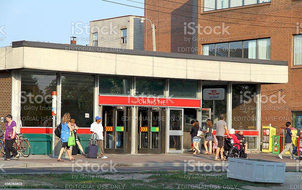 Toronto Subway Station royalty-free stock photo