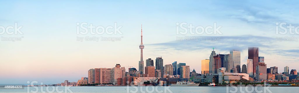 Toronto sunrise stock photo