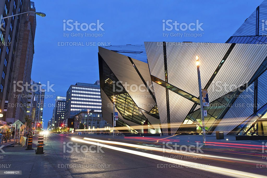 Toronto The Crystal Royal Ontario Museum illuminated Canada stock photo