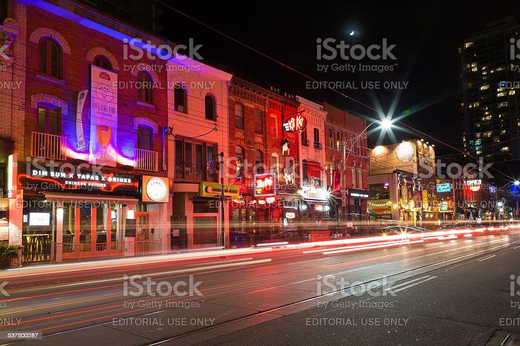 Toronto Theatre District stock photo