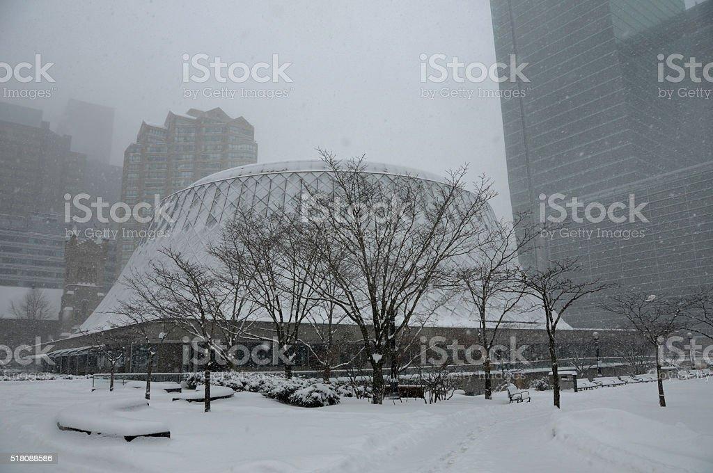 toronto under snow stock photo