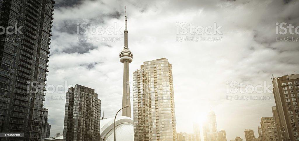 Toronto urban scene skyscrapers stock photo