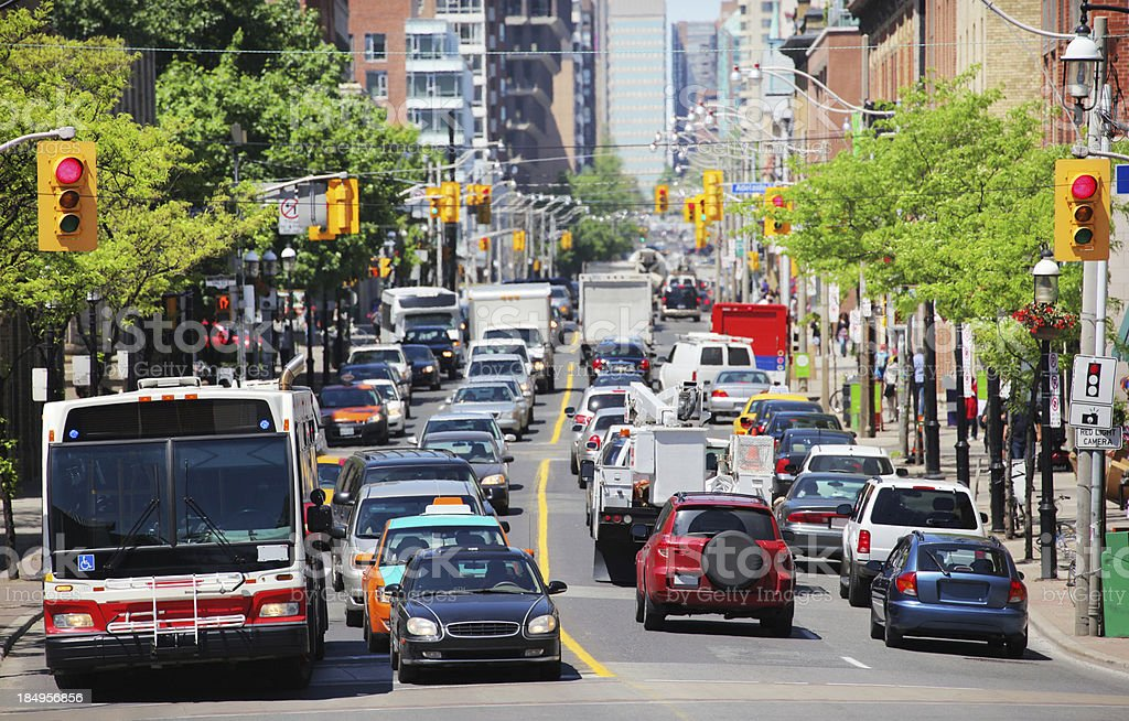 Toronto Urban Summer Traffic stock photo