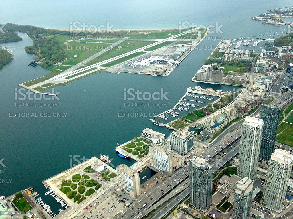 Toronto water front stock photo