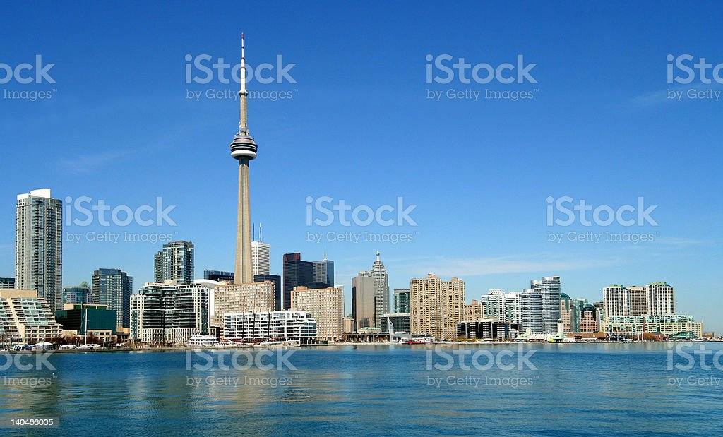 Toronto waterfront from west royalty-free stock photo