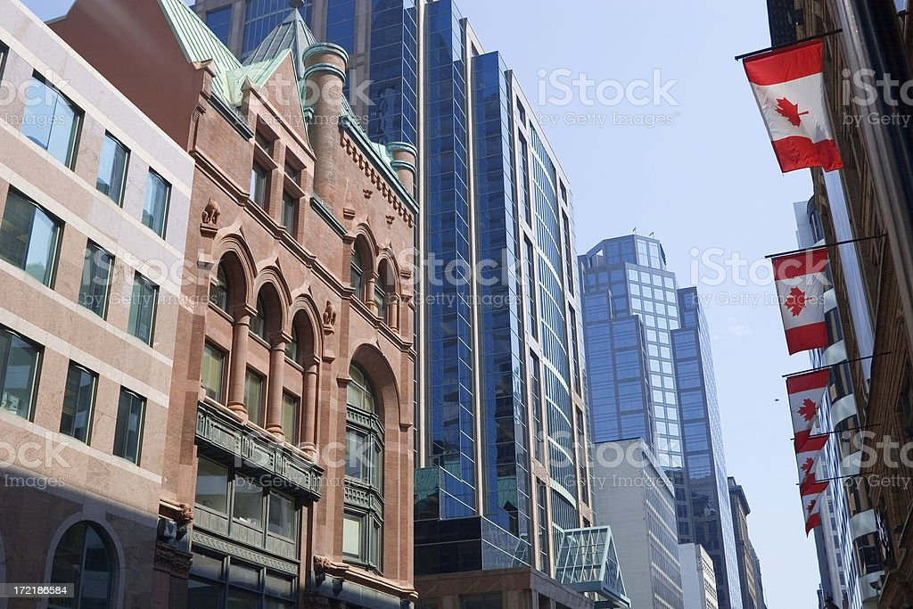 Toronto Yonge and Queen royalty-free stock photo