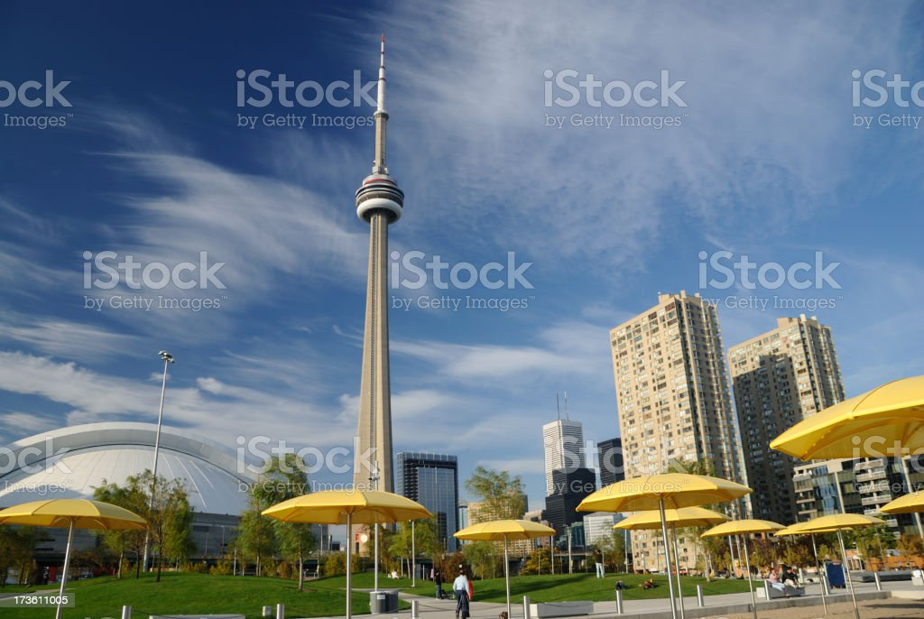 Toronto's CN Tower royalty-free stock photo