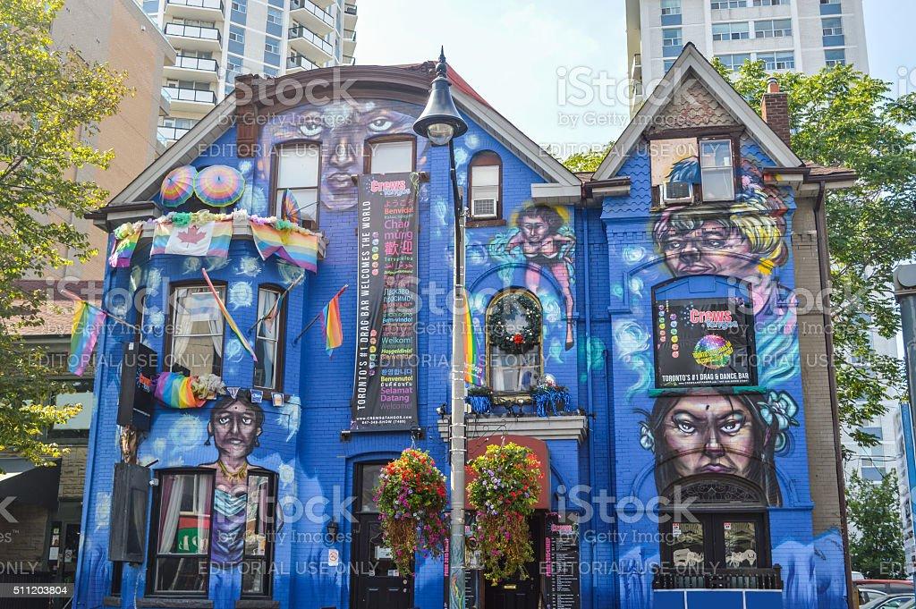 Toronto's #1 drag bar at Church / Wellesley Village stock photo