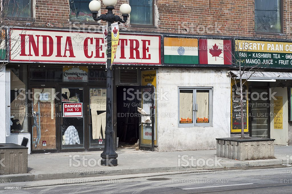 Toronto's Transitional Little India stock photo
