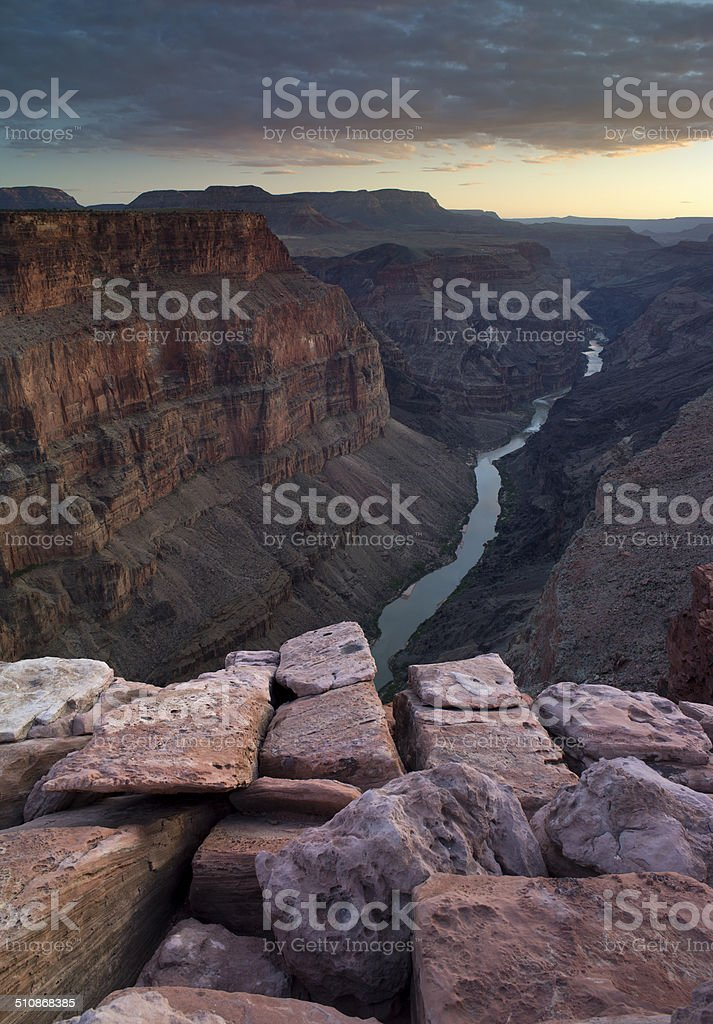 Toroweap on the Grand Canyon Sunset, Ariona, USA stock photo