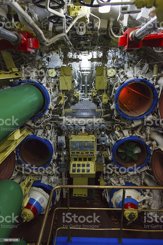 torpedo room and torpedoes stock photo
