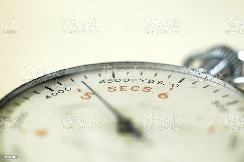 Torpedo stopwatch oblique stock photo