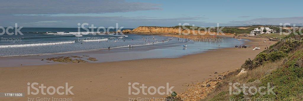 Torquay beach panorama royalty-free stock photo