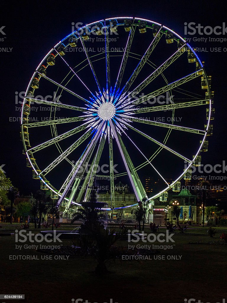 Torquay (Torbay) Millenium Wheel Illumination stock photo