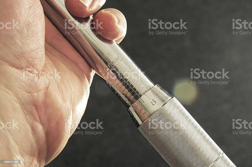Torque Wrench Adjustment stock photo