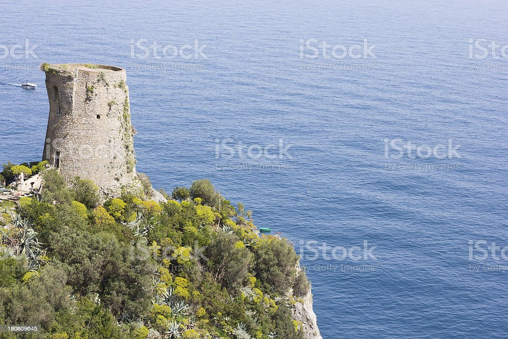 Torre Asciola on the Amalfi Coast, Italy royalty-free stock photo