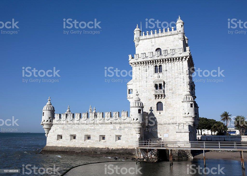 Torre de Belem in Lisbon Portugal stock photo