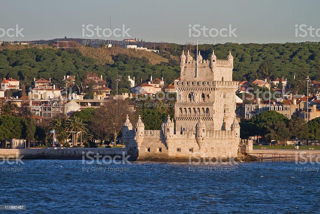 Torre de Belém, em Lisboa foto de stock royalty-free