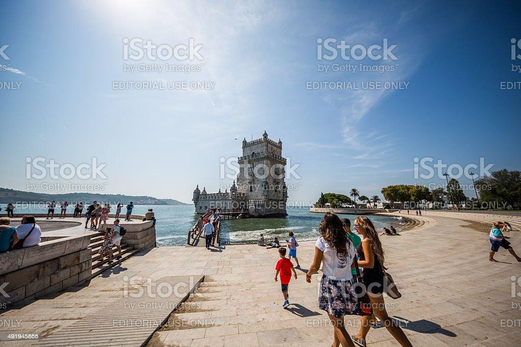 Torre de Belém, Lisbon, Portugal stock photo
