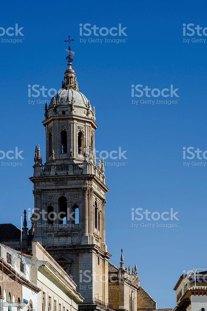 Torre de la catedral de Ja?n, Andaluc?a, Espa?a stock photo