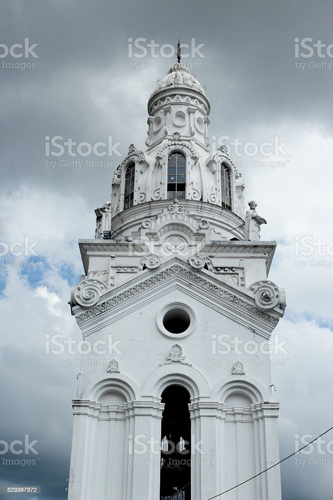 Torre de la Catedral de Quito stock photo