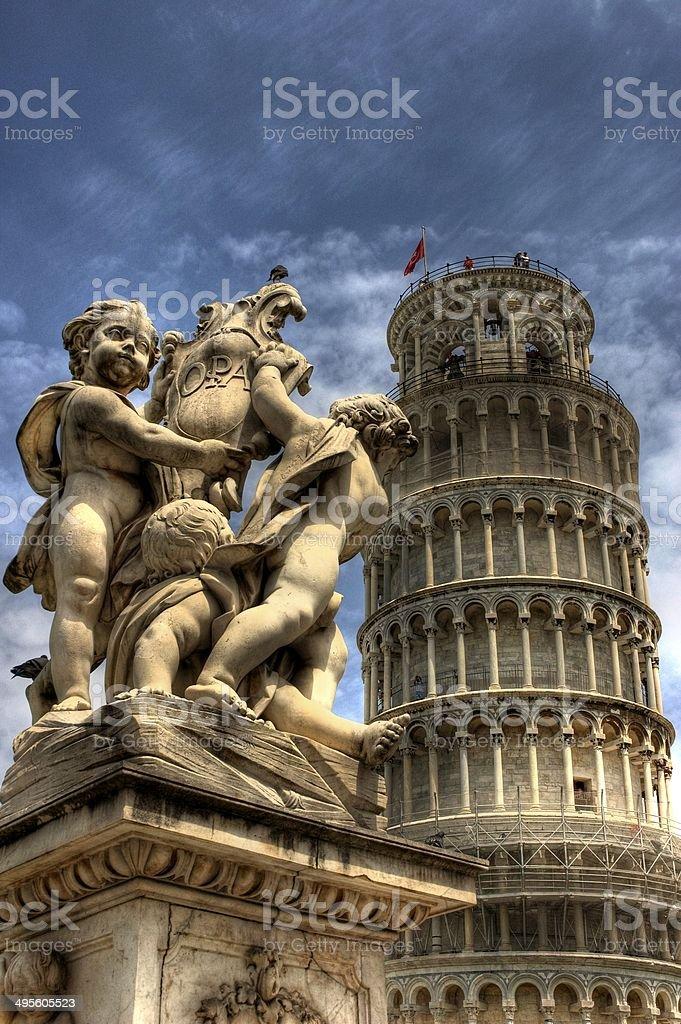 Torre de Pisa stock photo