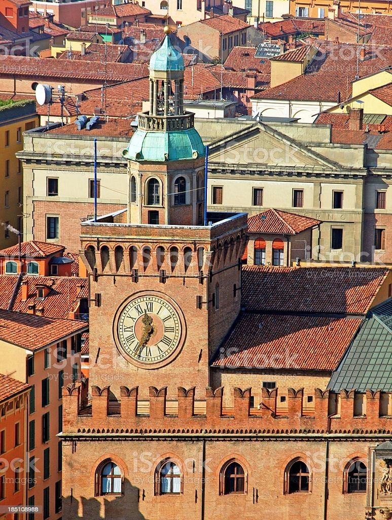 Torre degli Accursi,Bologna stock photo