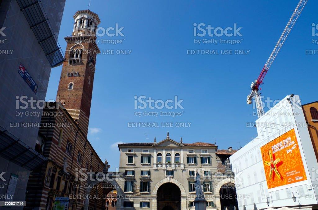 Torre dei Lamberti stock photo