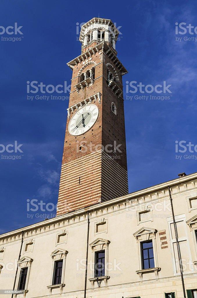Torre dei Lamberti, Verona, Italy stock photo