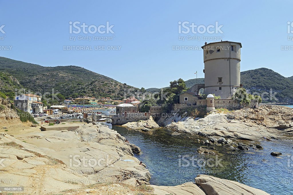 Torre del Campese, Giglio Island, Tuscany, Italy stock photo