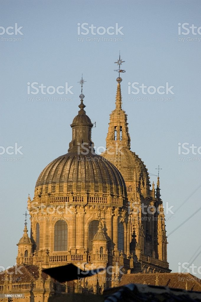 Torre del Gallo in the Old Cathedral of Salamanca. Spain stock photo
