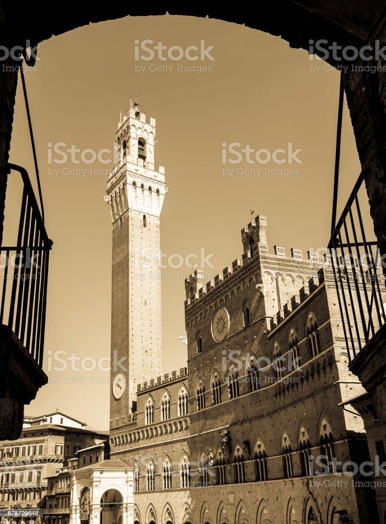 Torre del Mangia stock photo