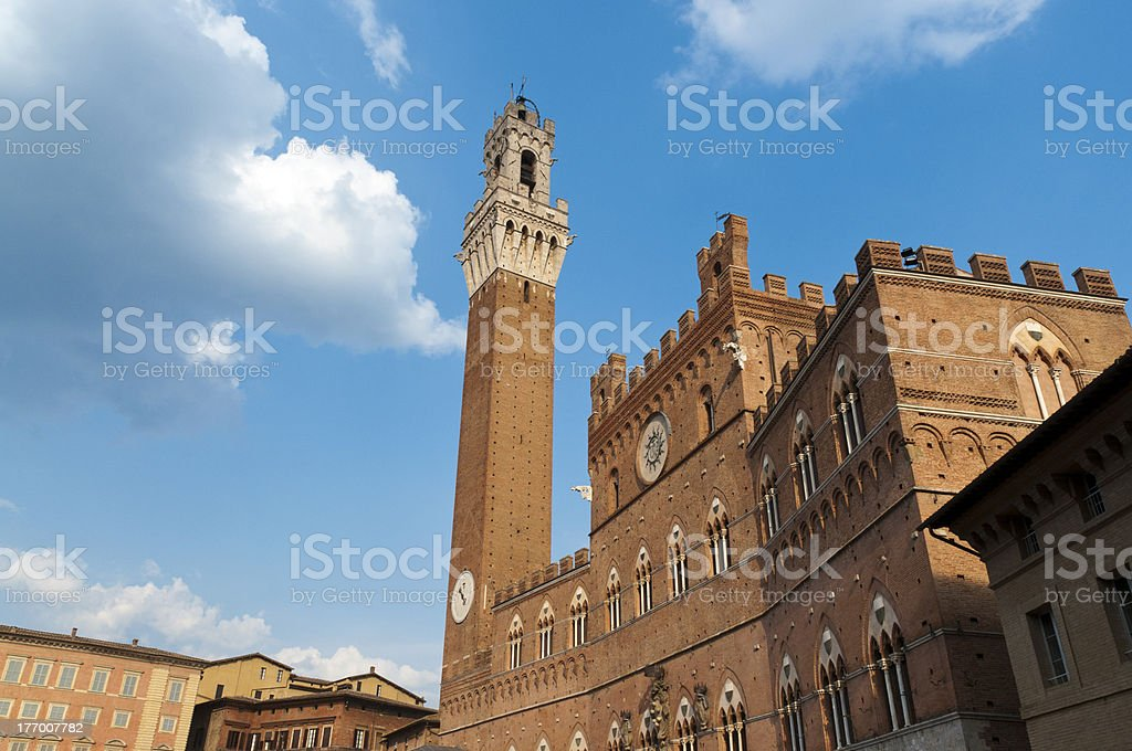 Torre del Mangia - Siena stock photo