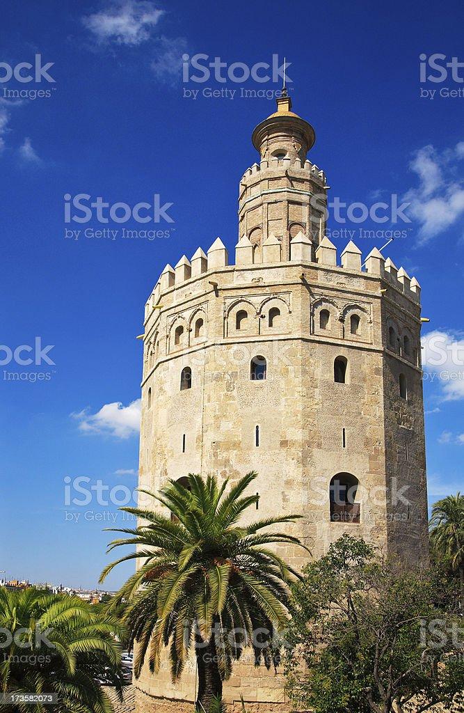 torre del oro in sevilla royalty-free stock photo