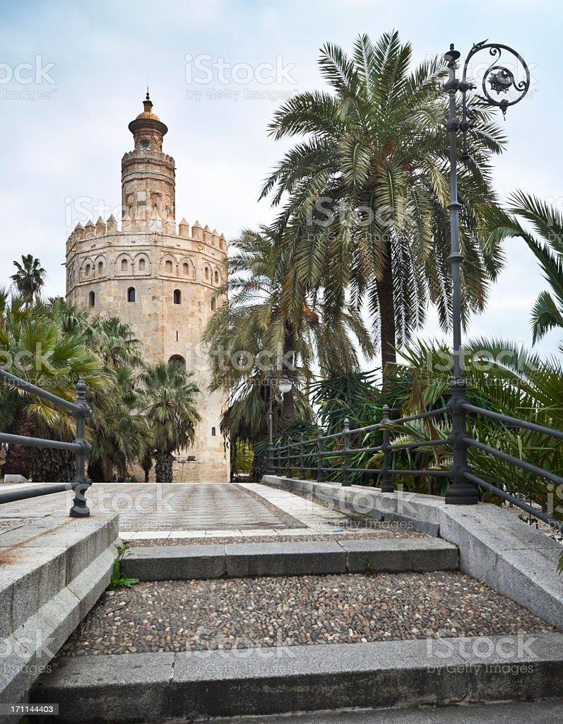 Torre del Oro in Sevilla, Spain stock photo