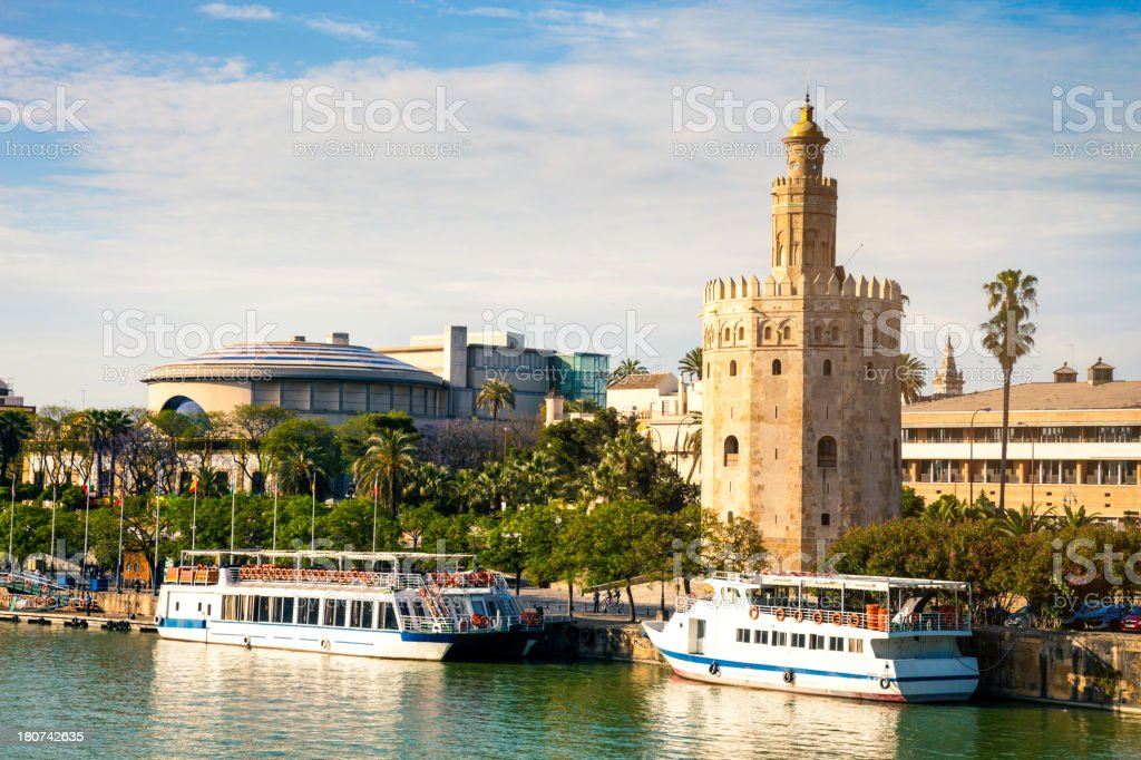 Torre del Oro in Seville, Andalusia - Spain stock photo