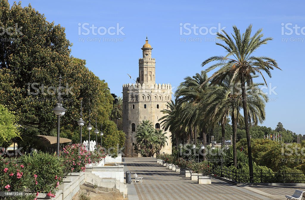Torre del Oro in Seville, Spain royalty-free stock photo