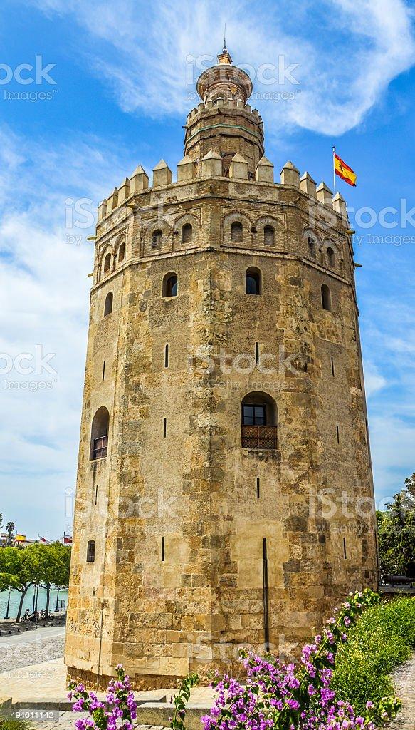 Torre del Oro in Seville, Spain stock photo
