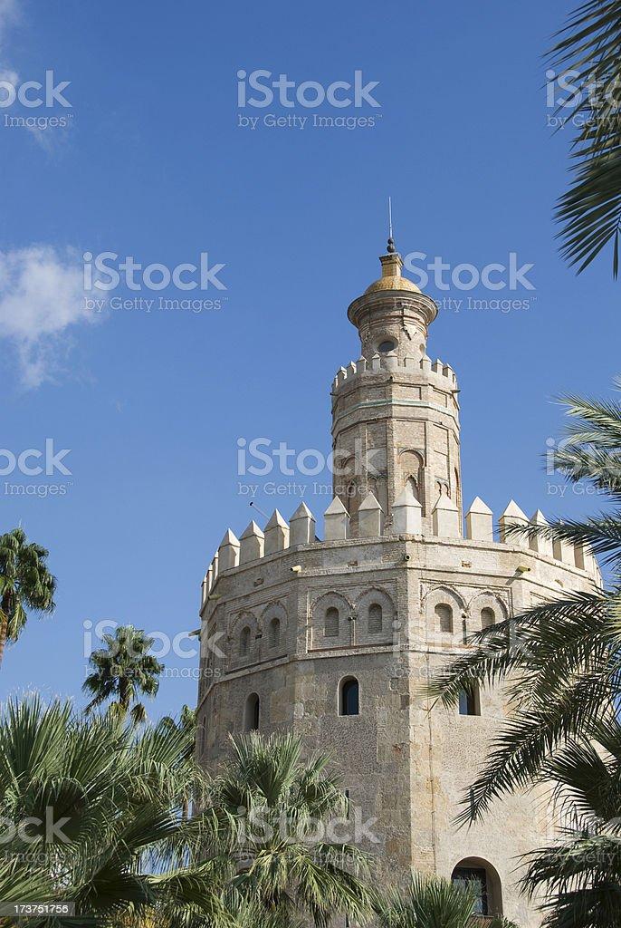 Torre del Oro royalty-free stock photo